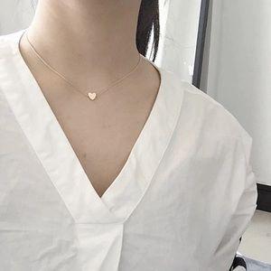 💛 Gold Heart Choker Necklace